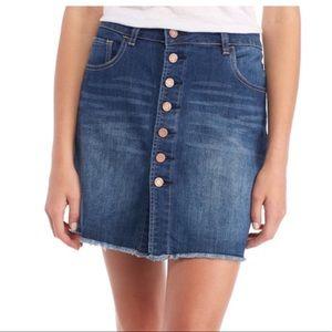 NWT Indigo Rein Button Front Denim Mini Skirt